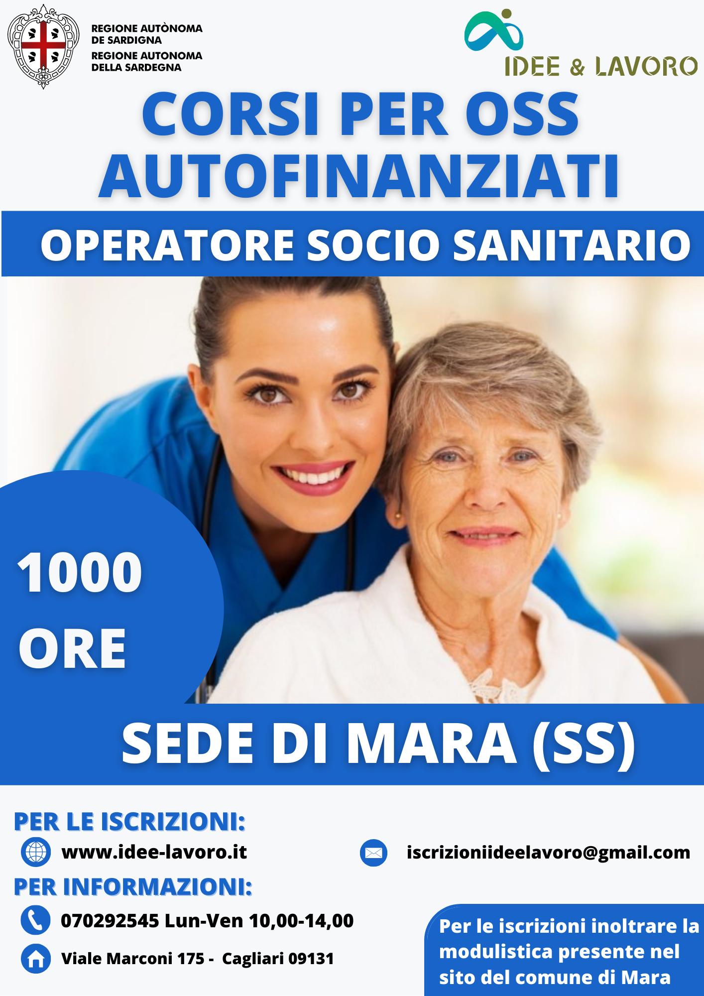 CORSO OPERATORE SOCIO SANITARIO A MARA