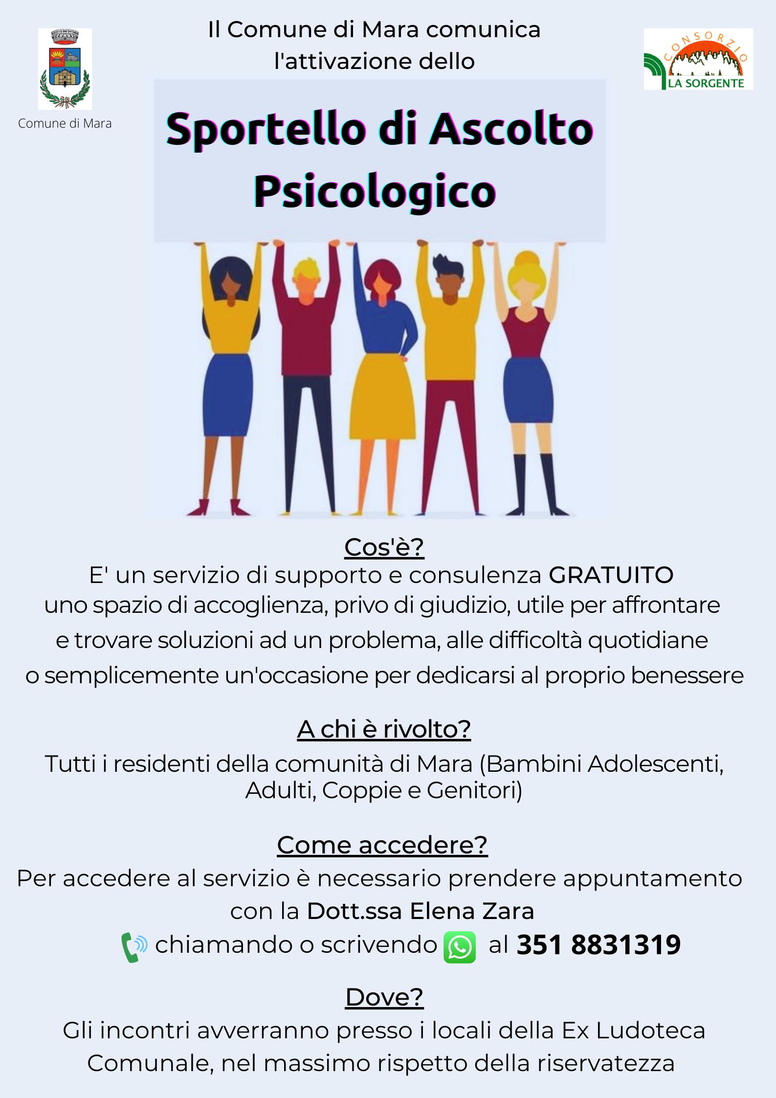RIAPERTURA SPORTELLO PSICOLOGICO
